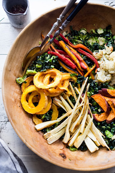 Fall Colorful Vegetable Salad