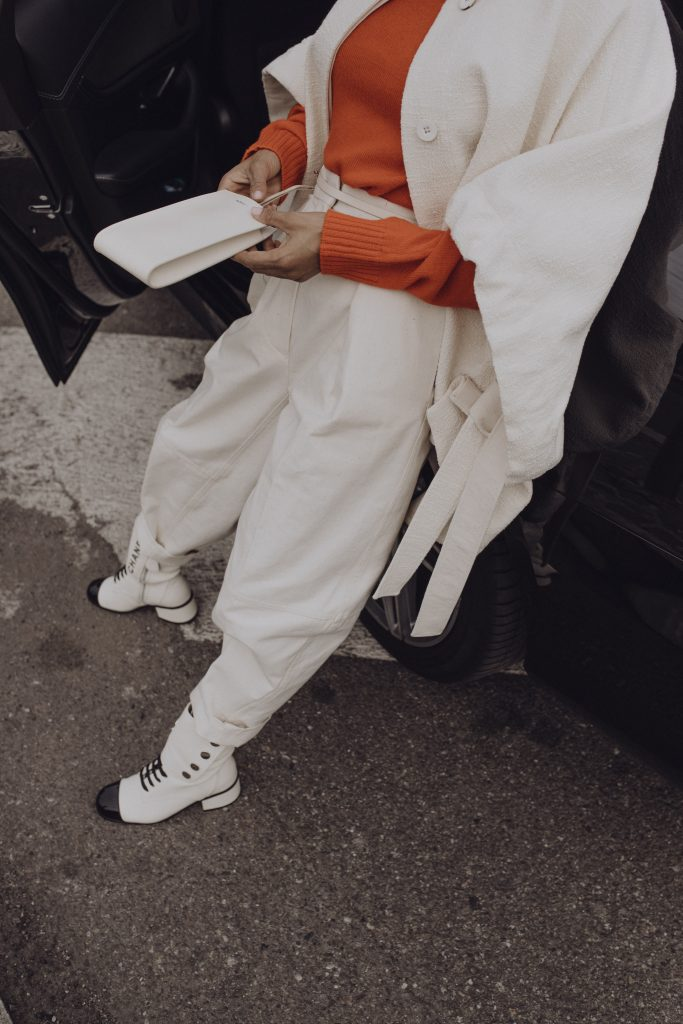 Victoria Barbara Street Style Jil Sander Look