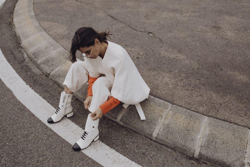 Victoria Barbara Street Style wearing Jil Sander