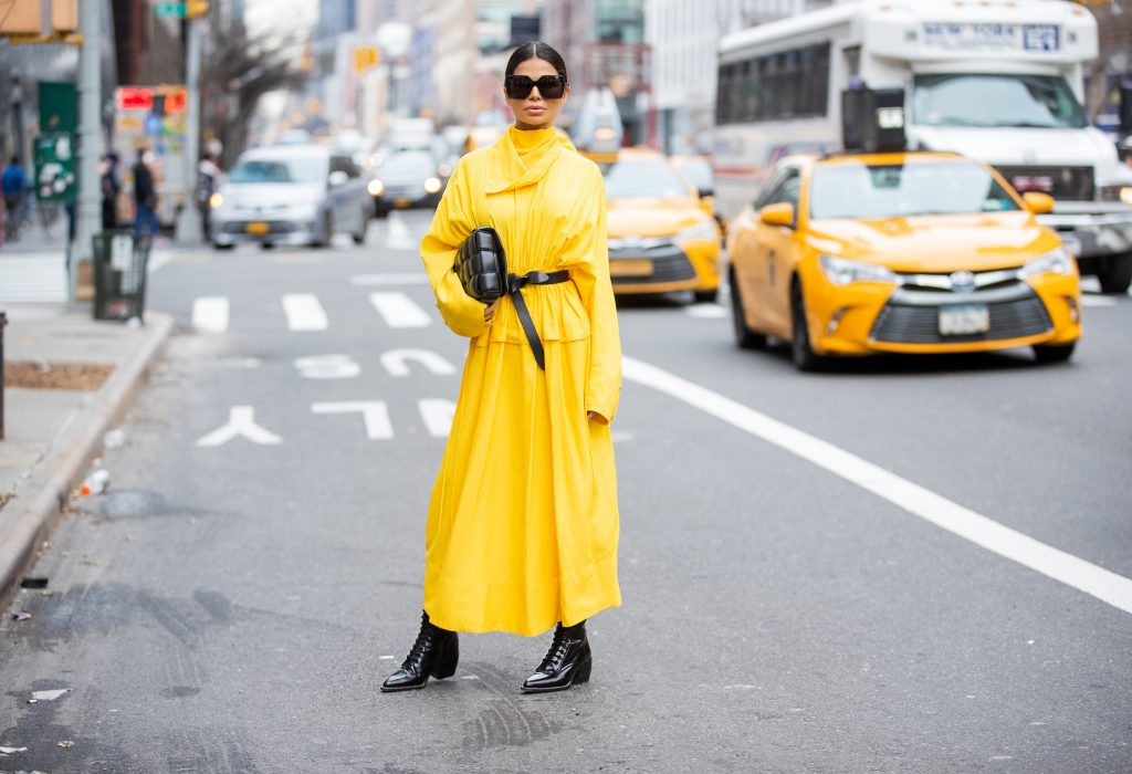 Victoria Barbara at NYFW 2020 in Yellow