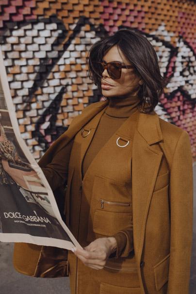 Victoria Barbara Street Style in Max Mara Camel Blazer