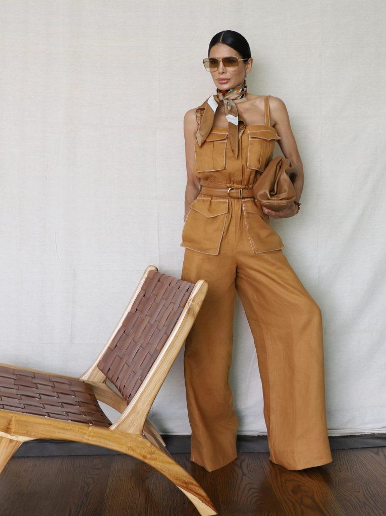 Fashion Blogger Victoria Barbara wearing Shona Joy Orange One Piece Jumpsuit