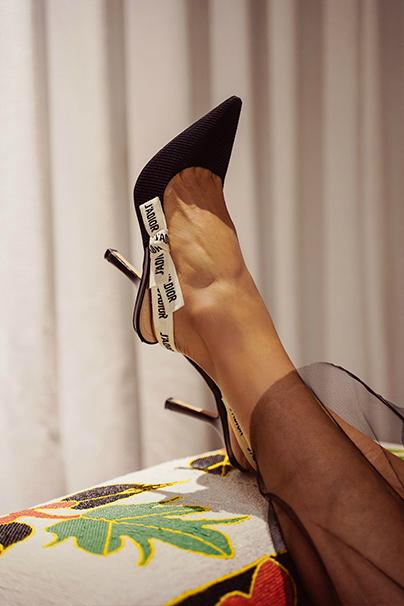 Black Women's Dior Heel Shoes