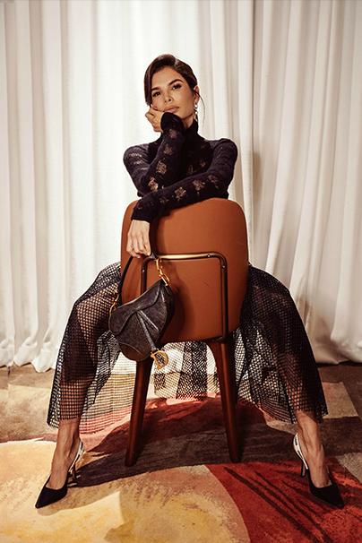 Victoria Barbara Dior Look with Purse