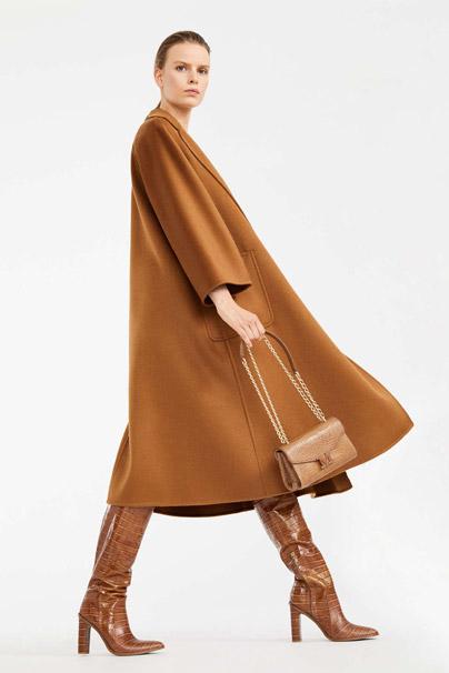 Max Mara Cashmere Coat in Tobacco