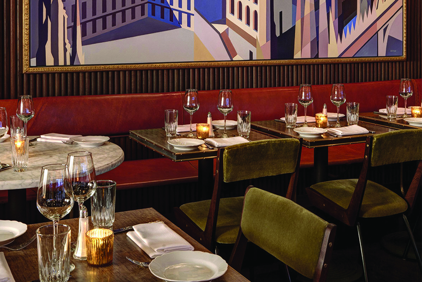 Sant Ambroeus Restaurant NYC Dining Tables