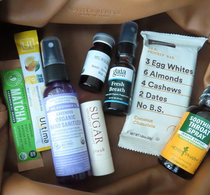 Bottega veneta pouch with energy supplements